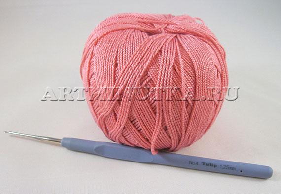Материалы для вязания крючком цветка