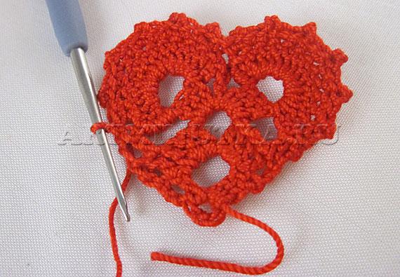 Вязание сердечка по схеме - фото