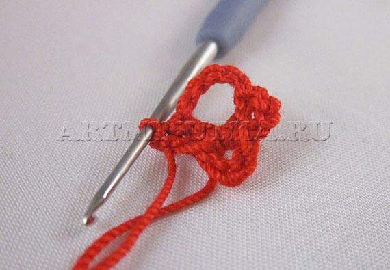Вязание крючком сердечка по схеме - шаг 1 - фото