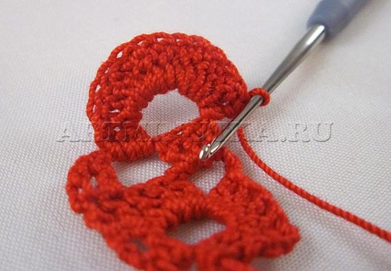 Вяжем крючком сердце - шаг 5 - фото