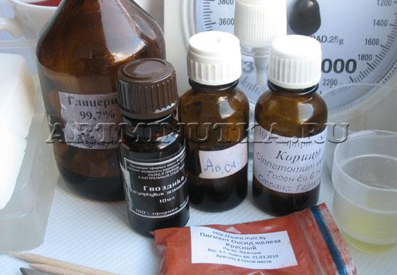Ингредиенты для варки мыла с пряностями - фото