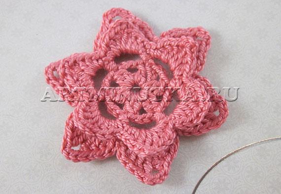 Вязание крючком цветка: схема объемного цветочка и мастер-класс.